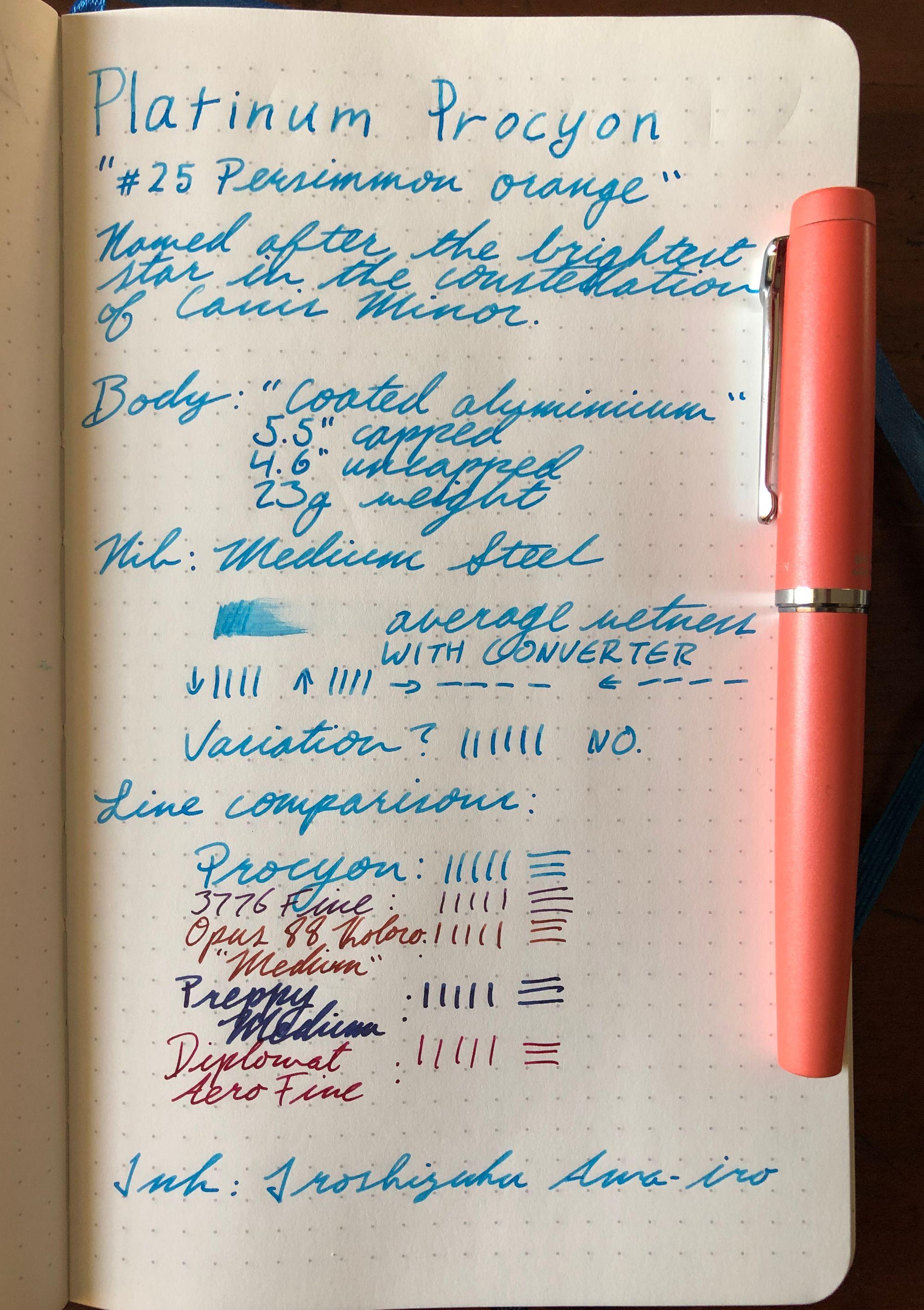 Pen Review: Platinum Procyon