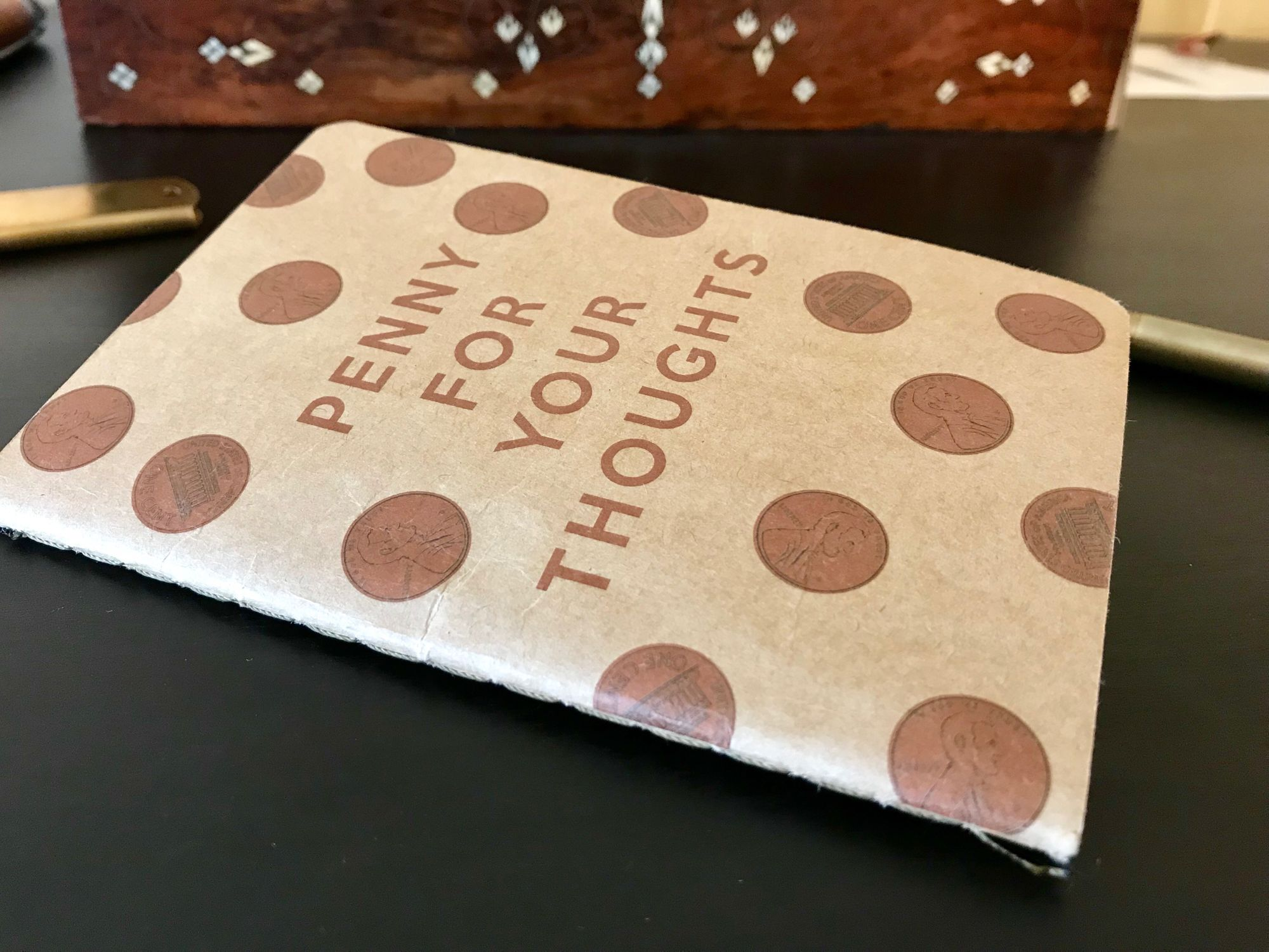 The Paper Series: Eccolo Penny for Your Thoughts Notebook